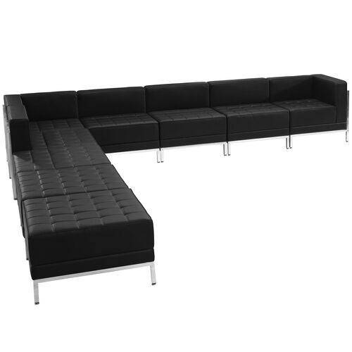 Our HERCULES Imagination Series Black Leather Sectional Configuration, 9 Pieces is on sale now.