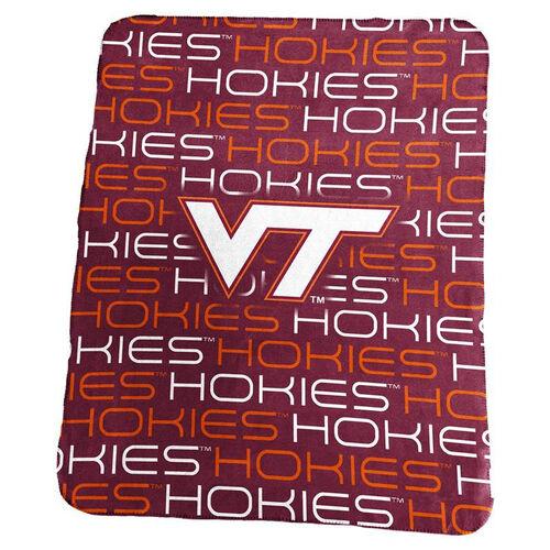 Virginia Tech Team Logo Classic Fleece Throw