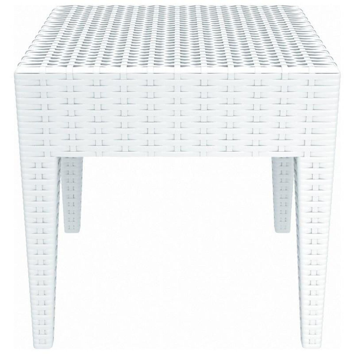 Our Miami Outdoor Wickerlook Resin Square Side Table White Is On Now