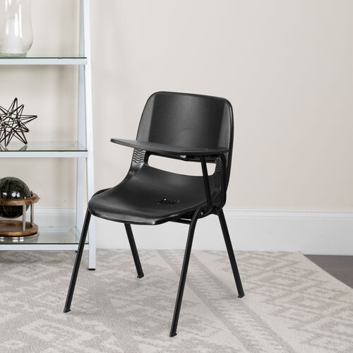 Our Ergonomic Shell Chair with Left Handed Flip-Up Tablet Arm is on sale now.