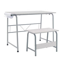 Studio Designs Project Center Set with Matching Bench - Gray