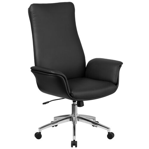 Our High Back Leather Executive Swivel Office Chair with Flared Arms is on sale now.