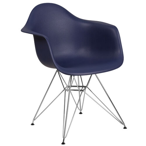 Our Alonza Series Navy Plastic Chair with Chrome Base is on sale now.