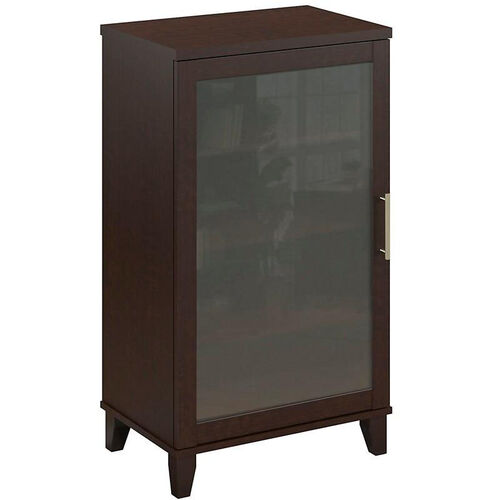 Our Somerset Frosted Glass Door Audio Cabinet - Mocha Cherry is on sale now.