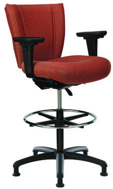 Monterey II 300 Series Small Back Single Shift Adjustable Swivel and Seat Height Stool