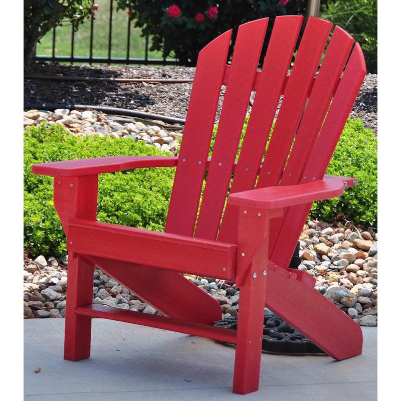 Our Seaside Recycled Plastic Adirondack Chair In Red Is On Sale Now.