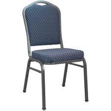 Advantage Premium Navy-patterned Crown Back Banquet Chair