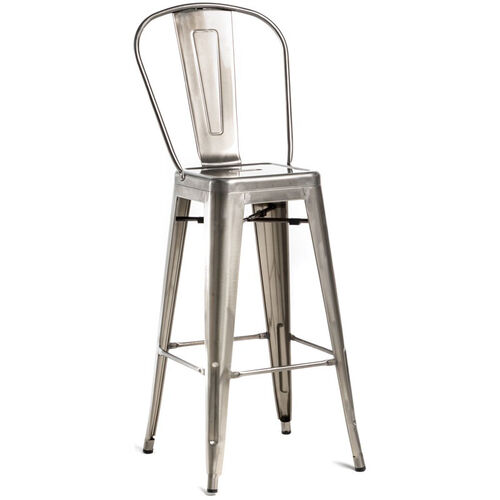 Our Oscar Steel Armless Barstool - Set of 4 - Brushed Gun Metal is on sale now.