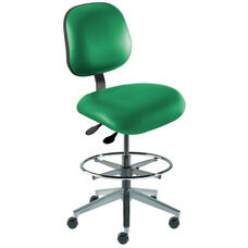 Quick Ship Elite Series Chair Ergonomic Seat and Cast Aluminum Base - High Seat Height