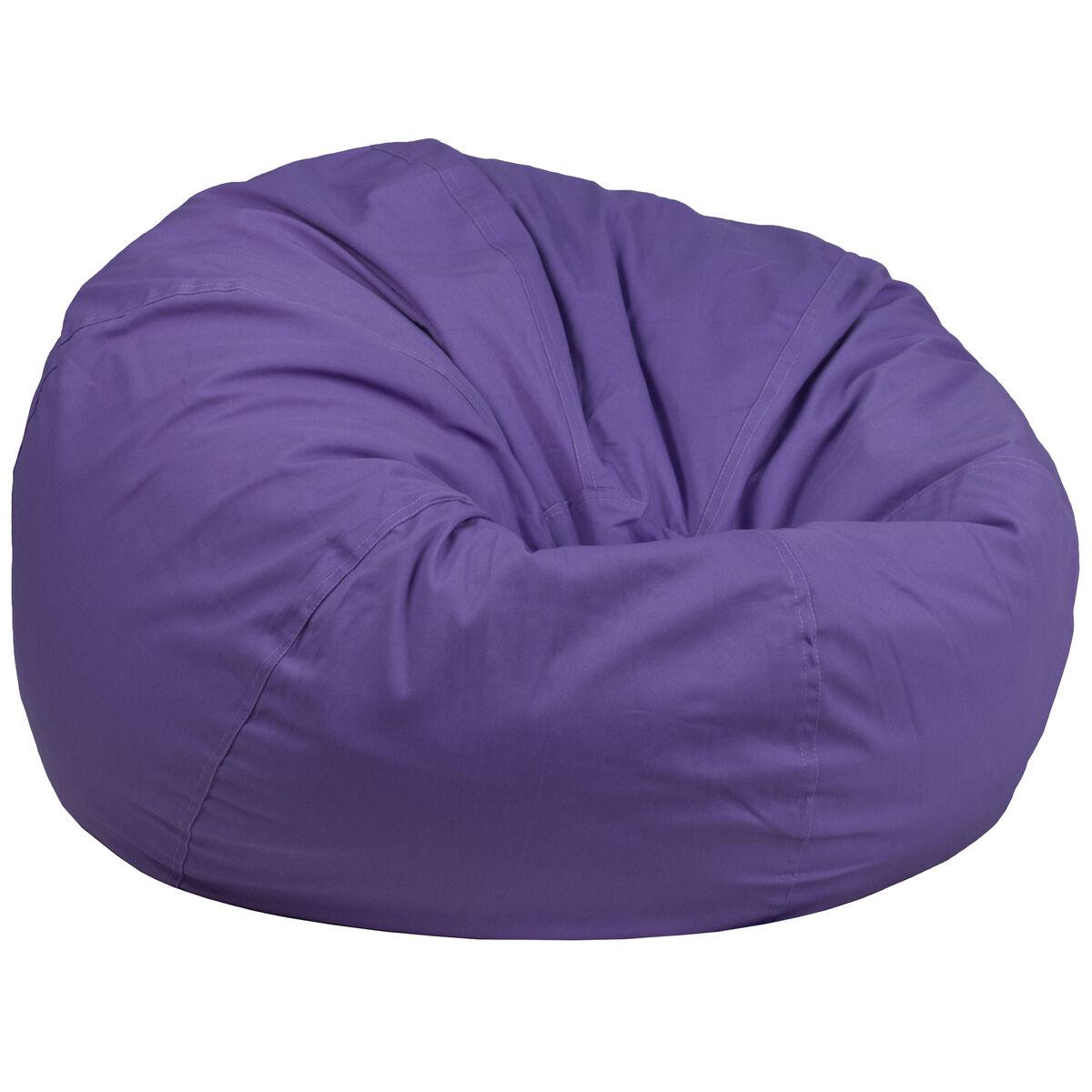Purple Bean Bag Chair Dg Bean Large Solid Pur Gg Bizchair Com