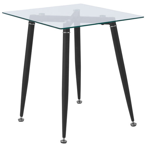 Our Chestnut Hill Collection Glass End Table with Sleek Matte Black Metal Legs is on sale now.
