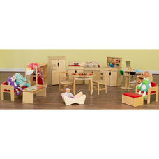Healthy Kids Plywood Classroom Dramatic Play Package with Tuff-Gloss UV Finish