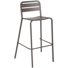 Vista Stackable Outdoor Aluminum Barstool - Earth