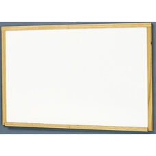 MLC Economy Series Wood Frame Markerboard - Natural Oak - 48
