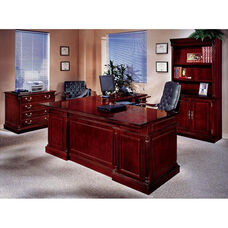 Keswick Right Executive L Desk - English Cherry