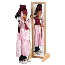 Birch Hardwood Double-Sided Bi-Directional Full-Length Dress Up Mirror