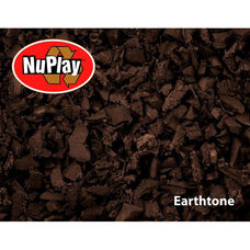 NuPlay Recycled Rubber Loose Fill Mulch - Earthtone - 1.5 Cubic Feet