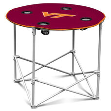 Virginia Tech Team Logo Round Folding Table