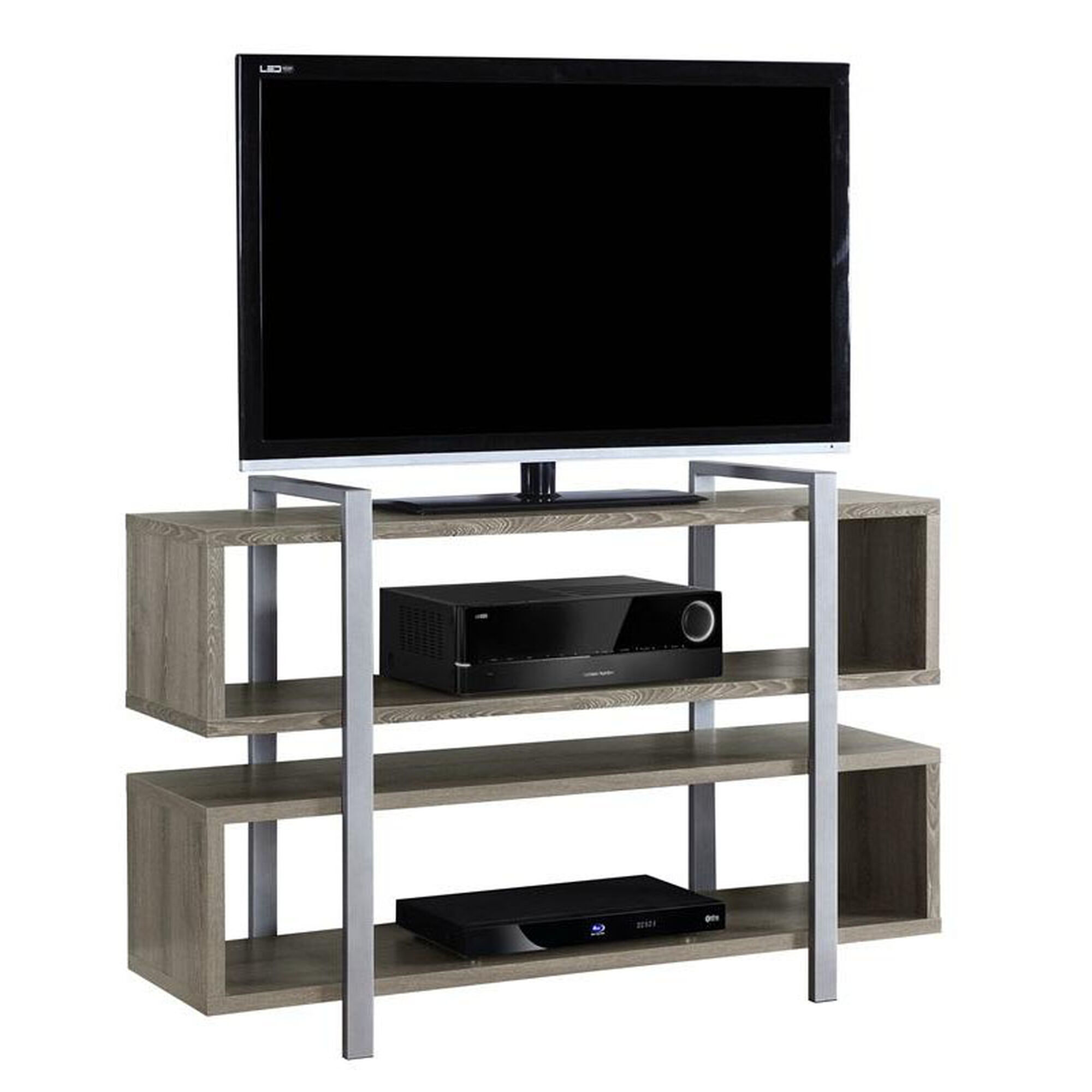 Monarch specialties open concept 32 39 39 h bookcase tv stand for Open concept bookcase