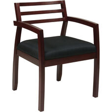 OSP Furniture Napa Guest Chair with Wood Back - Mahogany