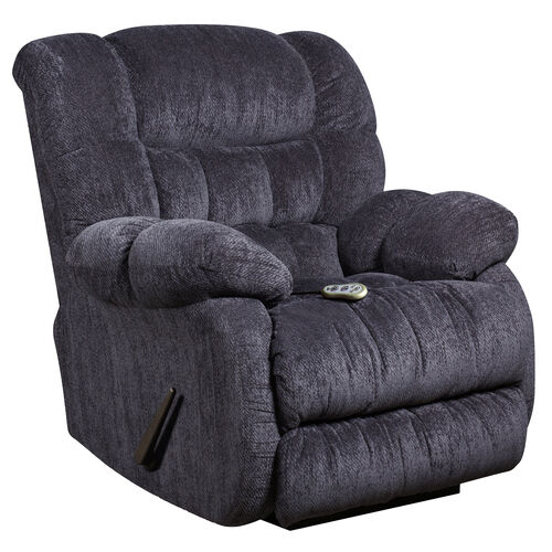 Our Massaging Columbia Indigo Blue Microfiber Rocker Recliner with Heat Control is on sale now.