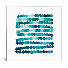Watercolor Dots by Juliet Meeks Gallery Wrapped Canvas Artwork