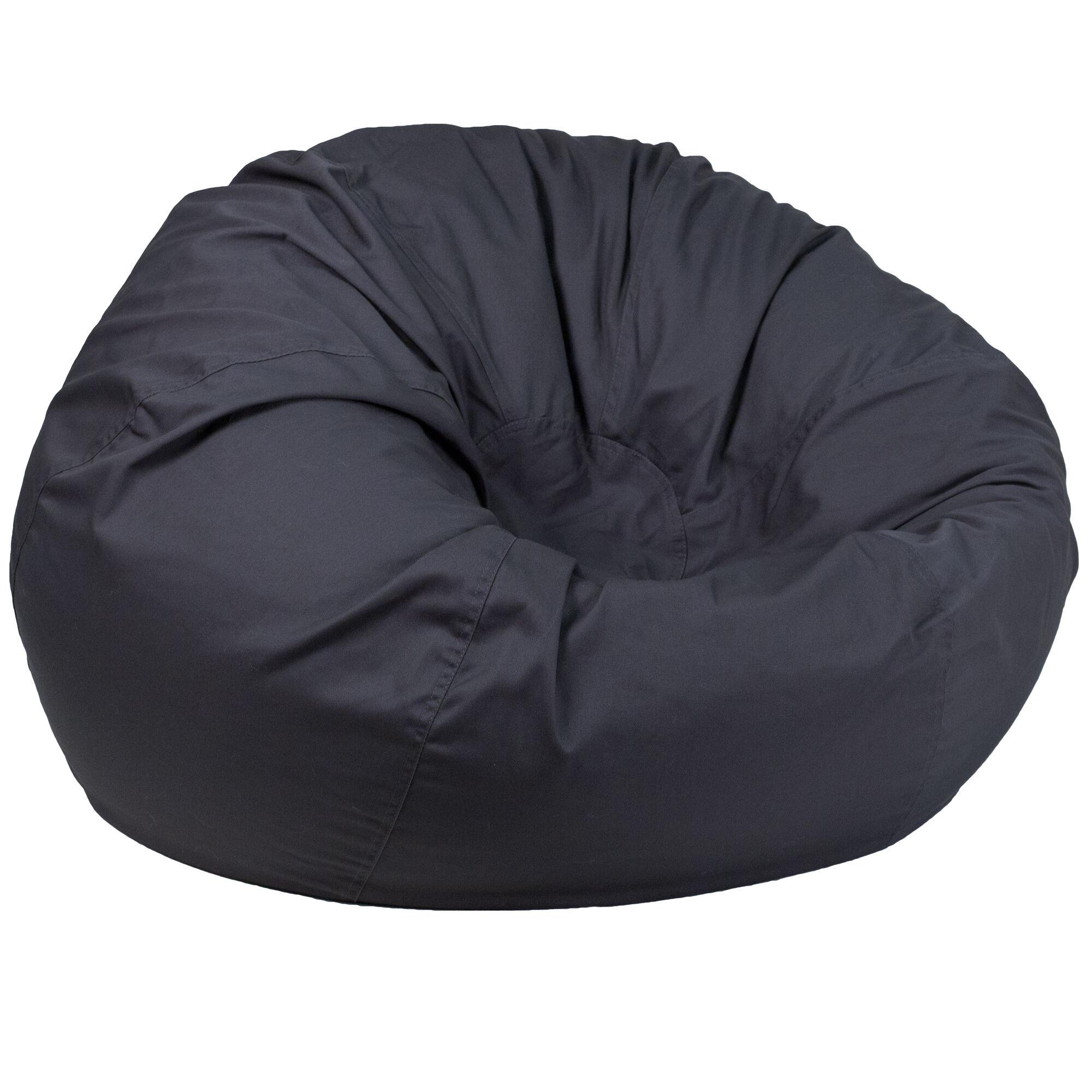 Gray Bean Bag Chair Dg Bean Large Solid Gy Gg Bizchair Com