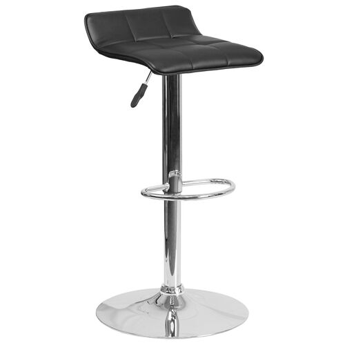 Our Contemporary Vinyl Adjustable Height Barstool with Quilted Wave Seat and Chrome Base is on sale now.