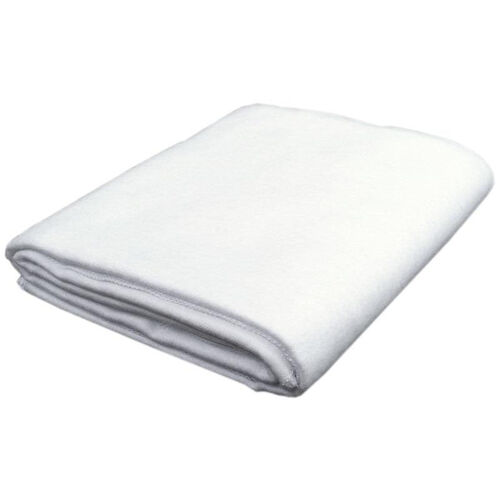 White Cotton Flannel Blanket - 58