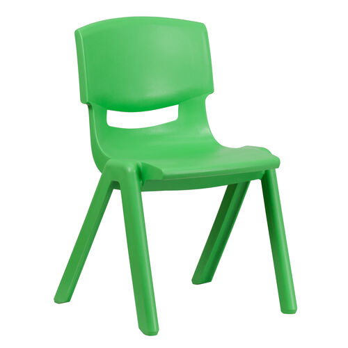 Our Green Plastic Stackable School Chair with 15.5