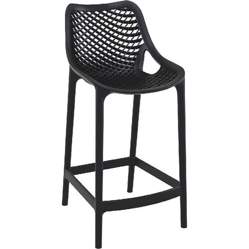 Our Air Modern Resin Outdoor Counter Stool - Black is on sale now.