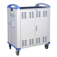 Chromebook and Netbook Charge Cart with Lockable Doors - Charges Up to 36 Devices - 38