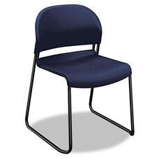 HON® GuestStacker Series Chair - Regatta Blue with Black Finish Legs - 4/Carton