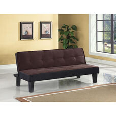Hamar Adjustable Sofa with Tufted Fabric Seat and Back - Chocolate