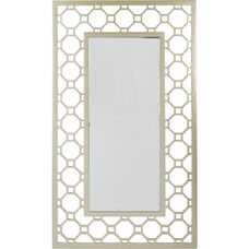 OSP Designs Gold and Silver Frame Square Mirror
