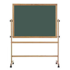 Double-Sided Composition Chalkboard with Wood Trim - 42