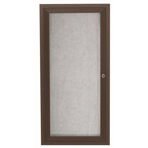 Our 1 Door Outdoor Aluminum Framed Enclosed Bulletin Board - Bronze Anodized Finish - 24