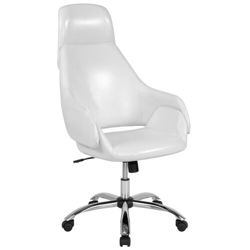 Our Marbella Home and Office Upholstered High Back Chair in White LeatherSoft is on sale now.