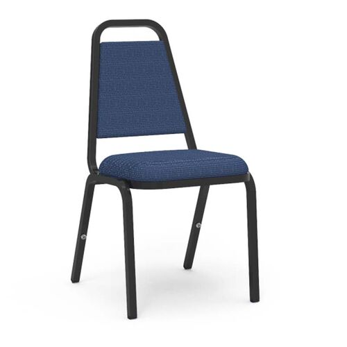 8900 Series Trapezoid Back Stack Chair with Sedona Sailor Fabric Upholstery and Black Frame - 18