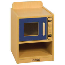 Colorful Essentials Laminate Floor Level Kitchen Microwave Oven Play Station with Storage - Blue