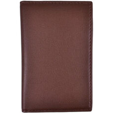 RFID Blocking ID Card Case Wallet - Top Grain Nappa Leather - Coco