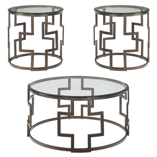 Our Signature Design by Ashley Frostine 3 Piece Occasional Table Set is on sale now.