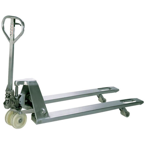 Our Stainless Steel Pallet Truck is on sale now.