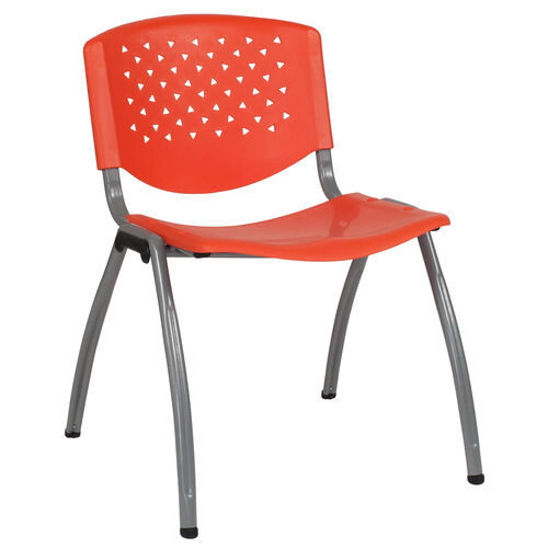 Our HERCULES Series 880 lb. Capacity Orange Plastic Stack Chair with Titanium Frame is on sale now.