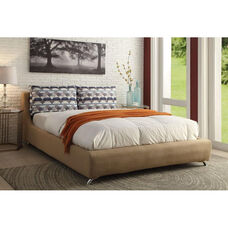 Lightriver Linen Bed with Removable Cover - Queen - Light Brown