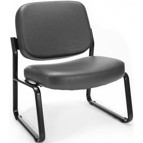 Our Big & Tall Guest and Reception Vinyl Chair - Charcoal is on sale now.