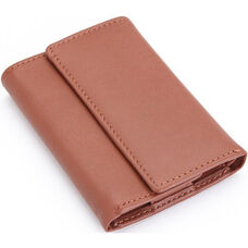 Key Chain Wallet- Top Grain Nappa Leather - Tan