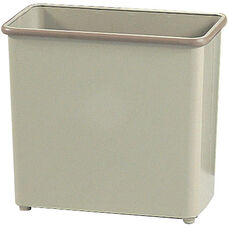 27.50 Qt Puncture Resistant Rectangular Wastebasket - Set of Three - Sand