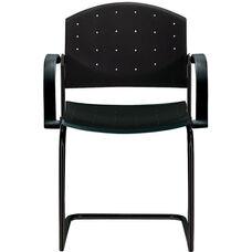 Eddy Sled Base Black Stack Side Chair