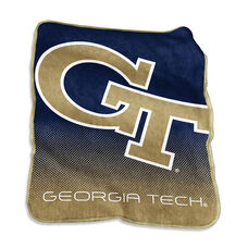 Georgia Tech Team Logo Raschel Throw
